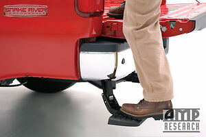 Amp Research Bedstep Retractable Rear Bumper Step 03 09 Dodge Ram 2500 3500