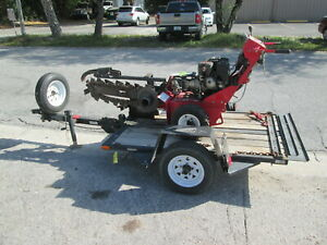 2013 Barreto Model 912 Walk Behind Trencher And Trailer