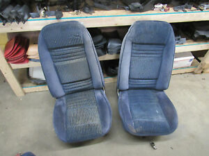 81 Trans Am Blue Bucket Seats In Good Condition With Tracks