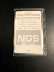 Ford Ngs New Generation Star Tester Card gray my 2005 Later Can Link
