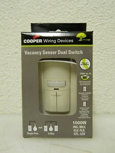 Cooper Infrared Vacancy Sensor Dual Switch 1 000 Sq Ft Coverage Qty 6 Vs310r la