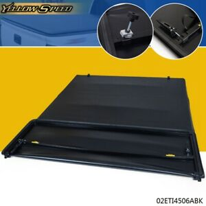 For 2007 2013 Chevy Silverado Gmc Sierra 8ft Long Bed Soft 4 fold Tonneau Cover