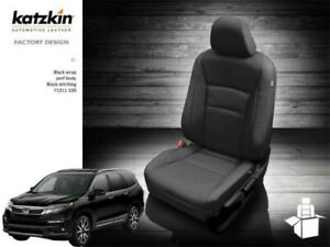 Katzkin Black Leather Seat Covers Fits 2016 2020 Honda Pilot 8 Passengers New