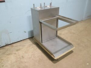 amf Hd Commercial Ss Cafeteria buffet Mobile Plate Glass Station Dispenser