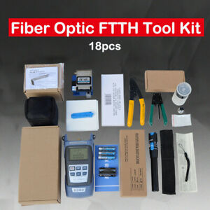 9 In 1 Fiber Optic Ftth Tool Kit With Fc 6s Fiber Cleaver And Power Meter New Us
