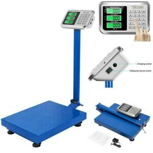 660lb Heavy Duty Digital Floor Platform Scale Postal Shipping Warehouse 300kg Us