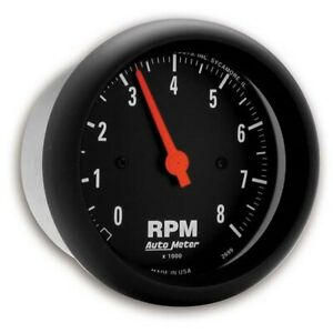 Autometer 2699 Z series Air core In dash Tach 8k Rpm 3 3 8 Inch