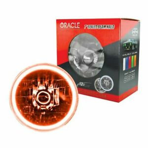 Oracle Lights 6905 005 7 Round Sealed Beam Conversion Halo Lights Amber