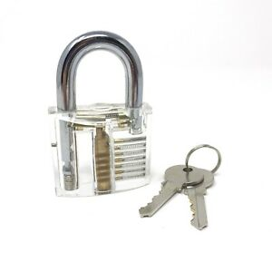 Transparent Practice Lock Training Padlock Locksmith Visible Clear View