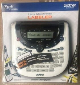 Brother P touch Pt 1290rs Labeler Label Maker Brand New Organize Your Holidays