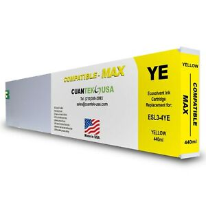 Roland Ecosol Max Compatible Yellow Ink 440ml Cartridge Esl3 4ye made In Usa