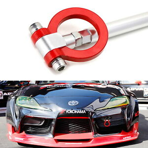 Red Track Racing Style Aluminum Tow Hook Ring For 2020 Up Toyota Supra Gr