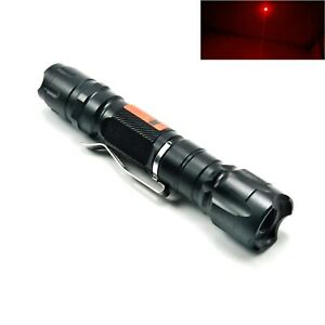 Waterproof 650nm Red Laser Pointer Focusable Dot Torch Flashlight 650t 200 18650