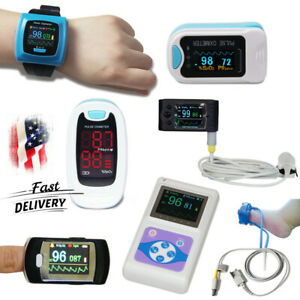Usa Finger Pulse Oximeter Spo2 Sensor Heart Rate Blood Oxygen O2 Patient Monitor