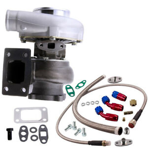 Gt3037 T3 Flange A r 60 Anti surge Turbo Charger Oil In Return Line Kits