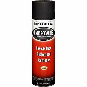 6 Pack Black Rubberized Undercoating Spray Paint Automotive Car Vehicle Coating