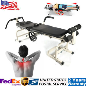 Traction Bed Lumbar Stretch Device Therapy Massage Table For Cervical Spine Usa