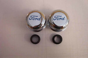 1 Pair Of Ford Valve Cover Breather 289 302 351w Sbf Bbf Mustang F100 F150