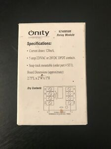 New In Box Onity Relay Module Board Model No Vz400580 current Draws 120ma