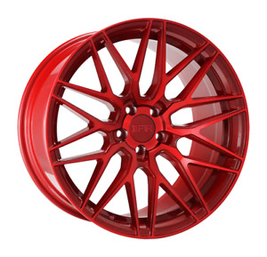 18x8 5 F1r F103 5x100 38 Candy Red Rims Set Of 4