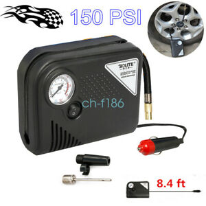150psi Tire Inflator Electric Car Football Air Pump Compressor Pressure Gauge