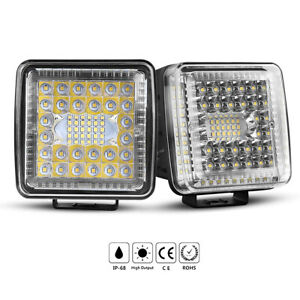 2pc Light Pods Led Work Light Flood Lights For Truck Off Road Tractor 12v 24v