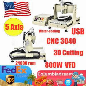 5 Axis Cnc 3040t Usb Router Engraving Engraver Drill Machine 800w Vfd Milling