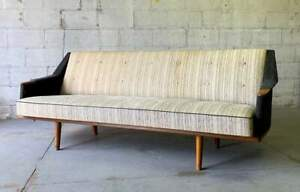 Danish Mid Century Modern Teak Sofa Daybed Couch