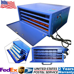 800w Silk Screen Printing Drying Cabinet 4 layer Warming Exposure Unit 25 X 21in