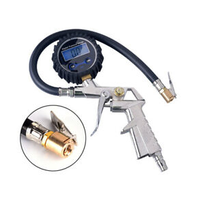 Air Tire Inflator With High Accurate Digital Pressure Gauge Tyre Car Test Us