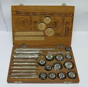 Valve Seat Cutter Set Kit 12 Pcs Set For Vintage Cars Bikes In Wooden Case