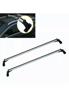 Aluminum Car Truck Top Luggage Roof Rack Crossbar Carrier Adjustable Windowframe