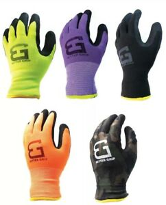 Safety Winter Insulated Double Lining Rubber coated Work Gloves 3pairs A Pack