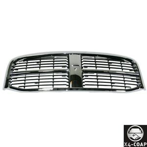 Chrome Grille With Black Insert Fits 06 07 08 09 Dodge Ram 1500 2500 3500 Pickup