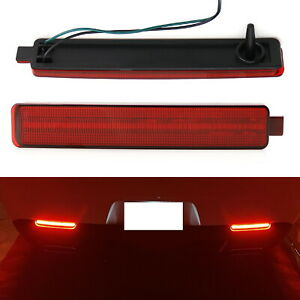 Red Lens 40 smd Full Led Rear Bumper Reflector Light Kit For 08 13 Cadillac Cts