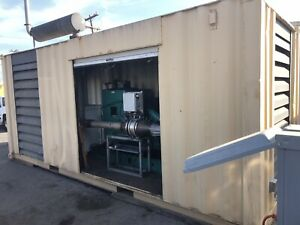 Containerized Cummins Diesel Genset Great Shape Low Hours Load Cell And More
