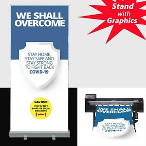 24x80 standard Retractable Roll Up Banner Stand Free Eco friendly Printing