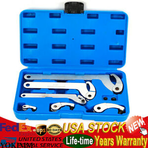 Adjustable Hook And Pin Wrench Spanner C Spanner Tool 35 120mm 6pcs Set Us