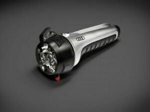 Genuine Audi Emergency Led Dynamo Wind Up Torch Hammer Seatbelt Cutter 8r0093052