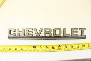 Vintage Chevrolet Script Tail Gate Emblem Logo Badge Original Oem M40