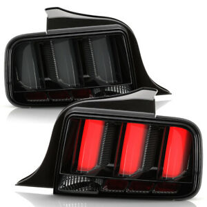 Smoked Led Tube Sequential Signal Tail Lights Lamps For 2005 2009 Ford Mustang