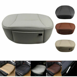 Pu Leather Deluxe Autocar Driver Seat Cover Full Surround Pad Protector Cushion