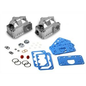 Holley 34 38 Fuel Bowl Sight Window Kit Dual Inlet