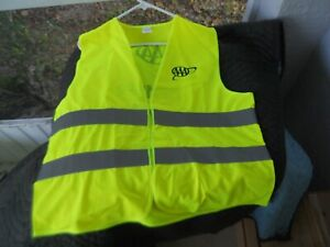 12 Yellow Reflective Saftey Parking Traffic Vests Brand New One Size Fits All