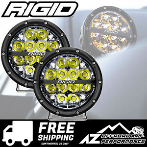 Rigid Industries 360 Series 6 In Round Led Light Bar White Spot 36200
