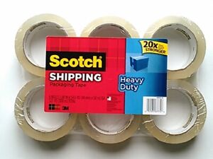 Scotch Heavy Duty 1 88 In X 54 6 Yd Shipping Packaging Tape pack Of 6