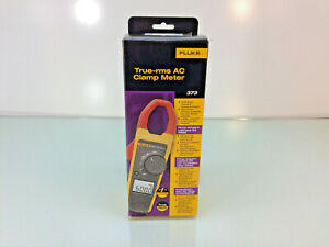 New Fluke 373 True rms Ac Clamp Meter Includes Soft Case Test Probes Manual