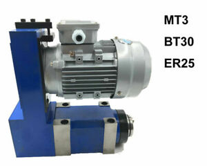 8000rpm Er25 Drilling Spindle Unit Power Head For Cnc Milling Drill Machine