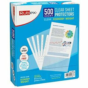 Sheet Protectors Holds 8 5 X 11 Inch Sheets 9 25 11 25 Top Loading Clear For