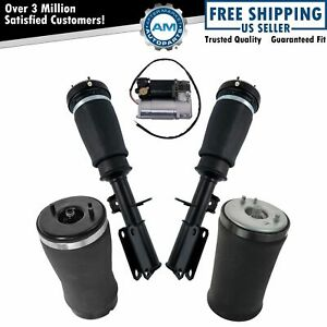 5 Piece Air Suspension Kit Front Shocks Rear Air Springs Compressor For Bmw X5